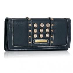 Peňaženka s kamienkami Styla, modrá 14938