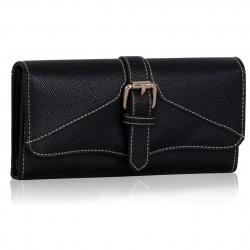 Peňaženka s prackou Action, čierna 14943
