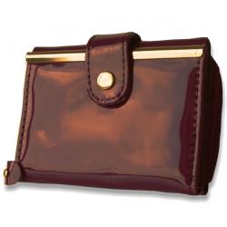 Peňaženka lakovaná malá, fialová 11013