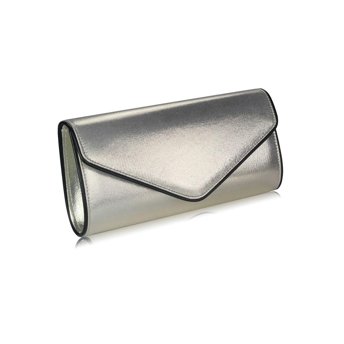 e743e9074d Kabelka listová metalická Rita