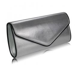 Kabelka listová metalická Rita, strieborná 15245