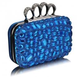 Kabelka prsteňová kryštáľ Bink, modrá 10710