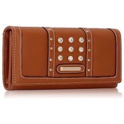 Peňaženka s kamienkami Styla, hnedá 15884