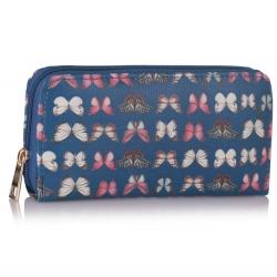 Peněženka s potiskem Motýl, modrá 16031