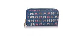 Peňaženka s potlačou Motýľ, modrá 16031