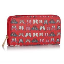 Peněženka s potiskem Motýl, červená 16033