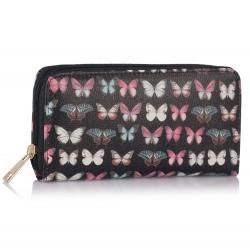 Peňaženka s potlačou Motýľ, čierna 16034