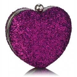 Kabelka lurexové Srdce, fialová 16292