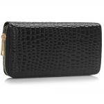 Peňaženka lakovaná Kuska, čierna 17064