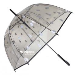 Dáždnik transparentný s kvapkami Drops 17195