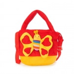 Detská taška motýľ, červená 17235
