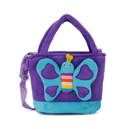 Dětská taška motýl, fialová 17236