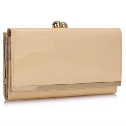 Peňaženka lakovaná Limi, ivory 17278