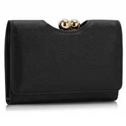 Peňaženka malá dámska Kiss, čierna 17276