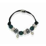 Náramok Shamballa perla, tyrkysový 11700