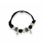 Náramok Shamballa perla, čierny 11703