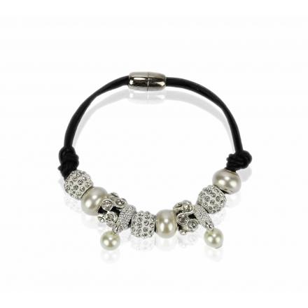 Náramok Shamballa perla, biely 11705