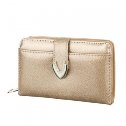 Peňaženka lakovaná Jasy M, zlatá 17758