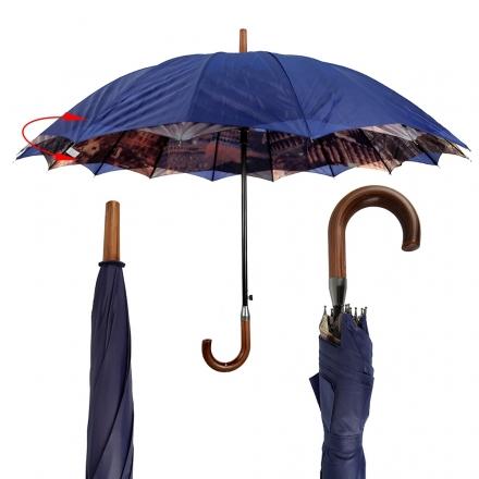Deštník dámský Duby, modrý 18111