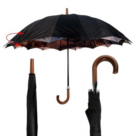 Deštník dámský Duby, černý 18112