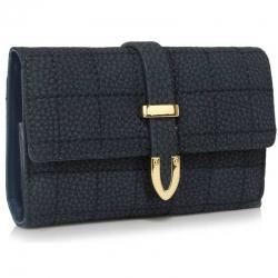 Peňaženka prešívaná Midi, modrá 18127