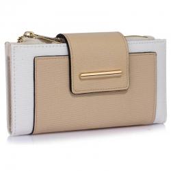 Peňaženka s prackou Laky, bielo nude 18158