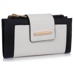 Peňaženka s prackou Laky, čierno biela 18159