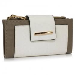 Peňaženka s prackou Laky, sivo biela 18160