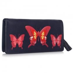 Peňaženka s potlačou Motýľ, modrá 18136