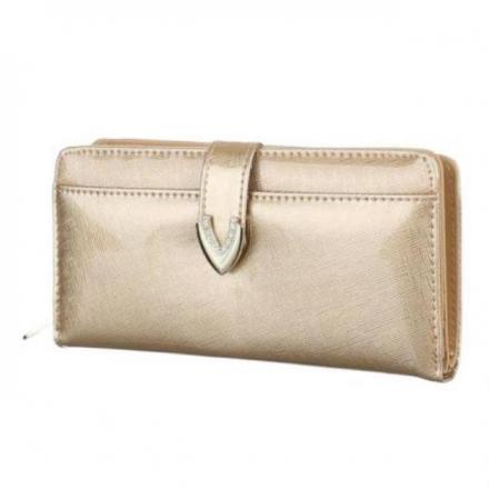 Peňaženka lakovaná Jasy L, zlatá 17765