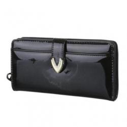 Peňaženka lakovaná Jasy L, čierna 17764