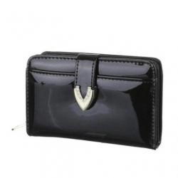 Peňaženka lakovaná Jasy M, čierna 17757