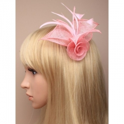Fascinátor na sponke, pink 19052