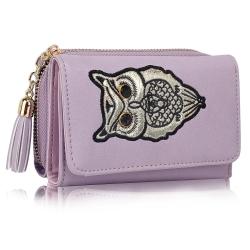Peňaženka malá s kamienkami Sova, fialová 19291