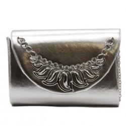 Kabelka listová BeLuxury Fody, silver 19383