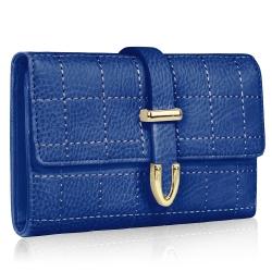 Peňaženka prešívaná Midi, modrá 19436