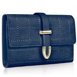Peňaženka prešívaná Midi, modrá 19439