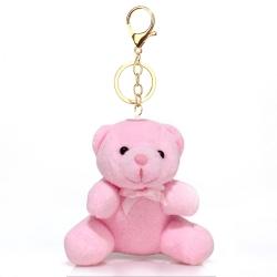 Prívesok na kabelku Teddy, ružový 19573