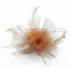 Kvet do vlasov na sponke, telový 12038