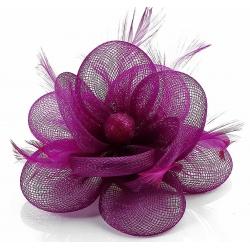 Kvet do vlasov na sponke, cyklámenový 12059