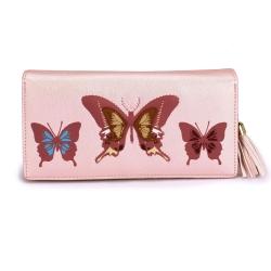 Peňaženka s potlačou Motýľ, ružová 20290