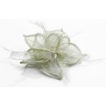 Kvet do vlasov na sponke, biely 12075