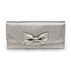 Peňaženka dámska Mašľa, strieborná 20454