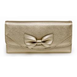 Peňaženka dámska Mašľa, zlatá 20455