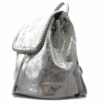 Batoh metalický BeLuxury Wow, strieborný 18738