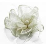 Kvet do vlasov na sponke, béžový 12116