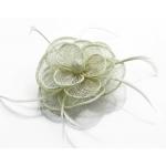 Kvet do vlasov na sponke, béžový 12126