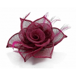 Kvet do vlasov na sponke, fuchsia 12137