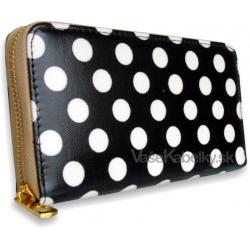 Peňaženka dámska bodková Trendy, čierna 13630