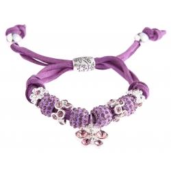 Náramek Shamballa krystalek Motýl, fialový 13710